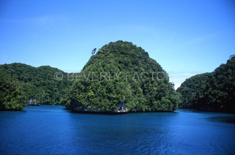 Island;Palau;green;blue water;sky;trees